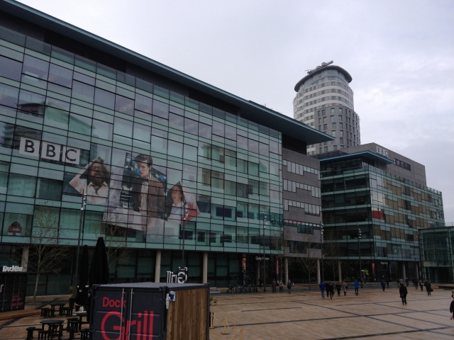 Part of the Media City UK campus.