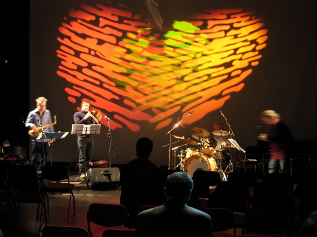 The Ah-A Project performing at the conclusion of Saturday's sessions.